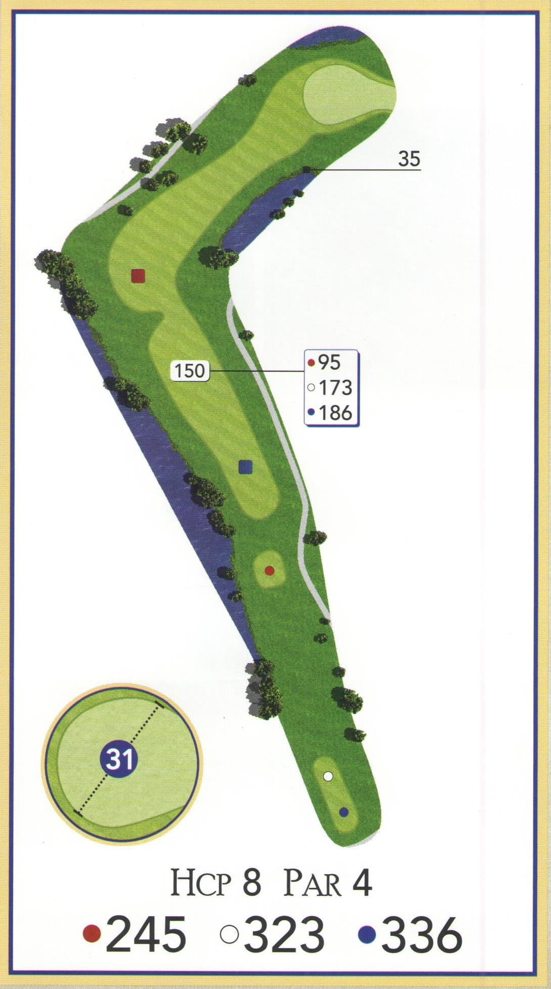 Course Info Layout Golf Hole Diagram 10
